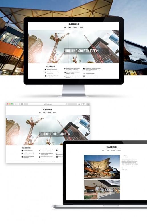 Image showing a preview of the BulkBuild website that Elites Wave built.