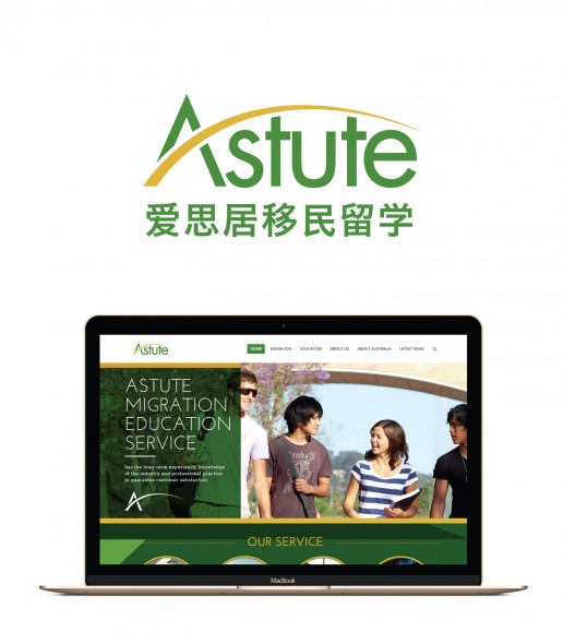 Image showing a preview of the Astute website that Elites Wave built.